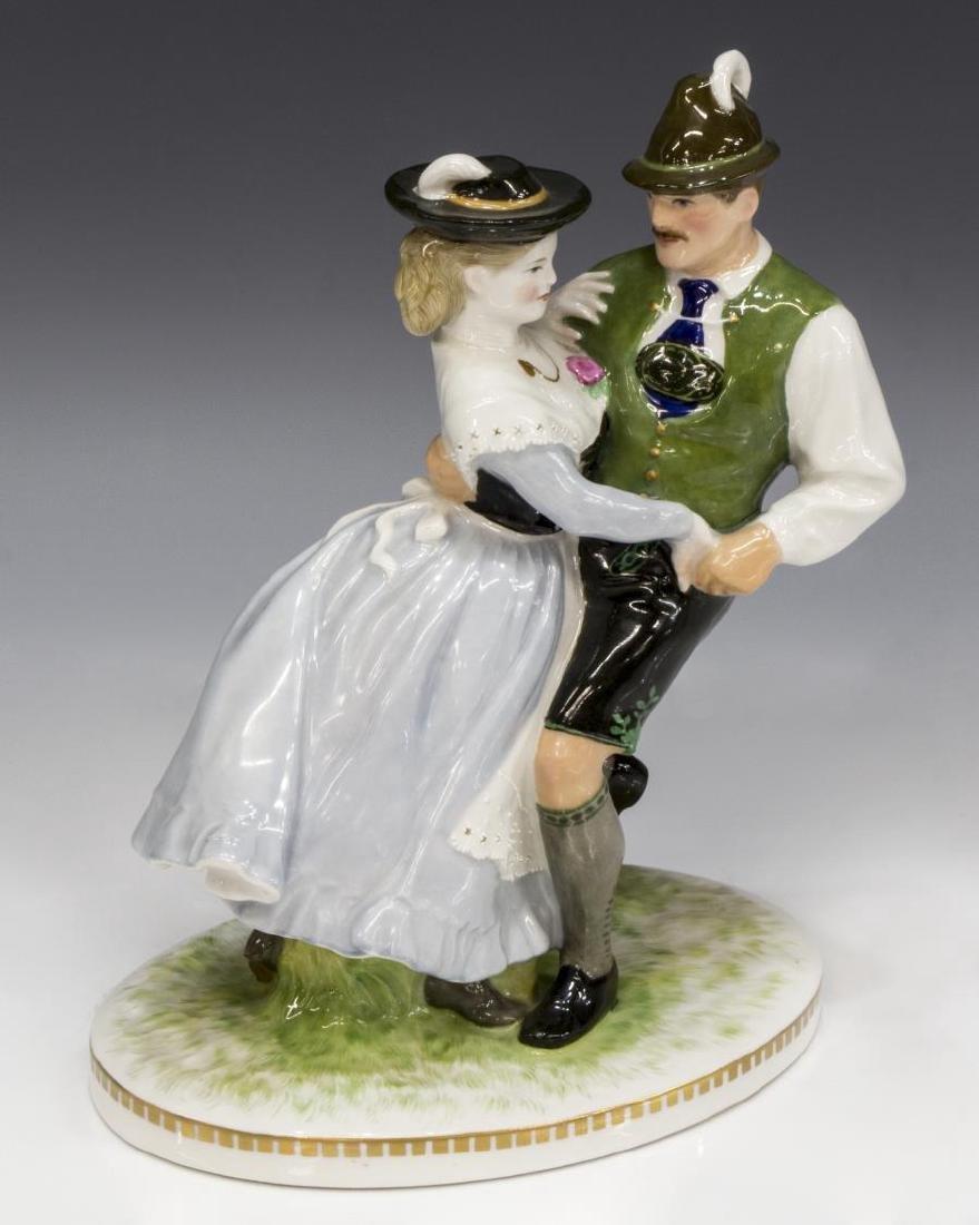 KPM PORCELAIN CABINET FIGURE, DANCING COUPLE