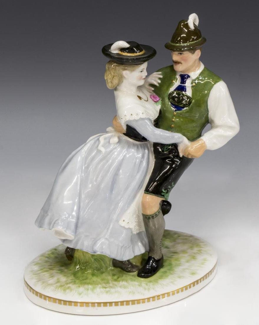 KPM PORCELAIN CABINET FIGURE, DANCING COUPLE