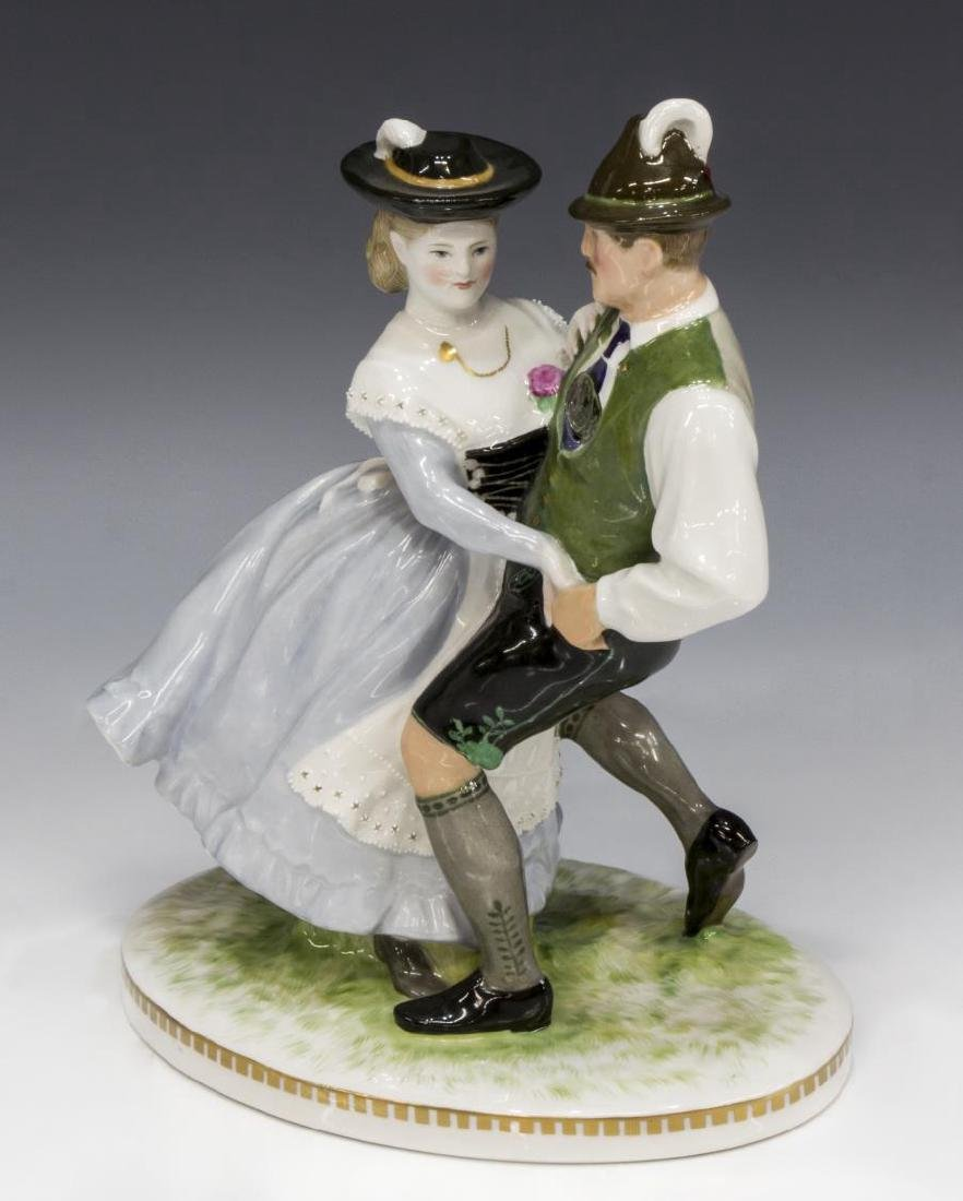 KPM PORCELAIN CABINET FIGURE, DANCING COUPLE - 2