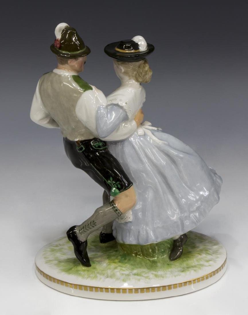 KPM PORCELAIN CABINET FIGURE, DANCING COUPLE - 3