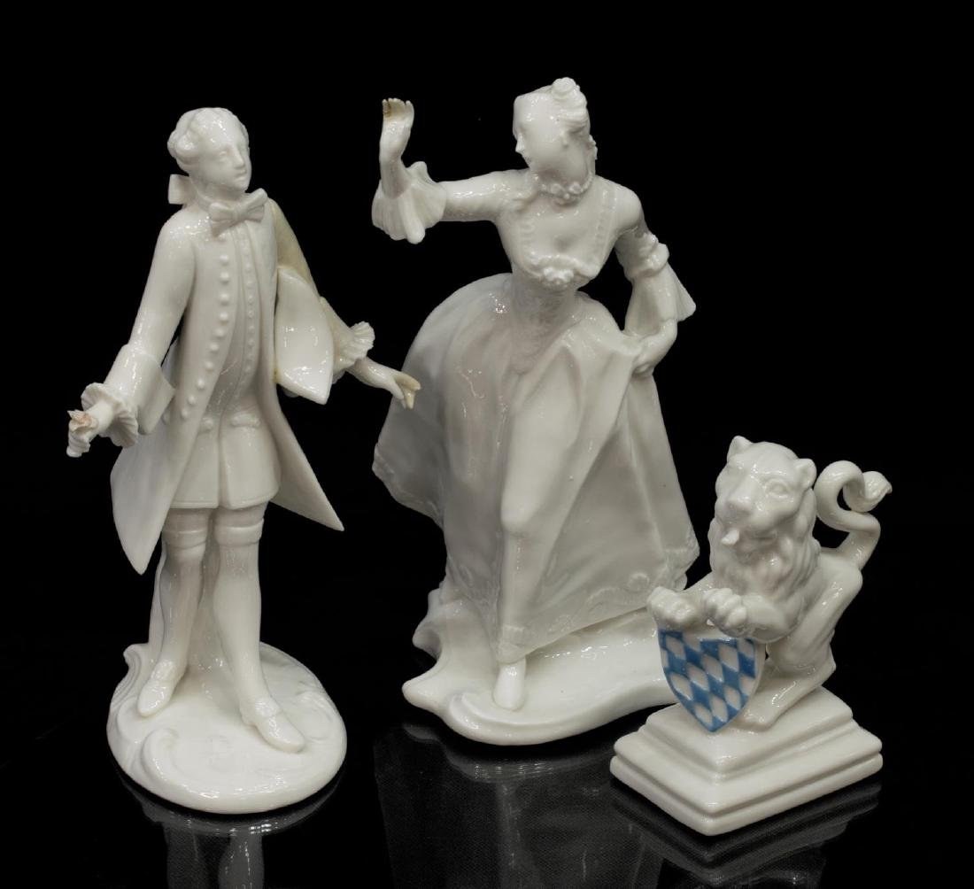 (5) NYMPHENBURG GERMAN BLANC PORCELAIN FIGURES - 3