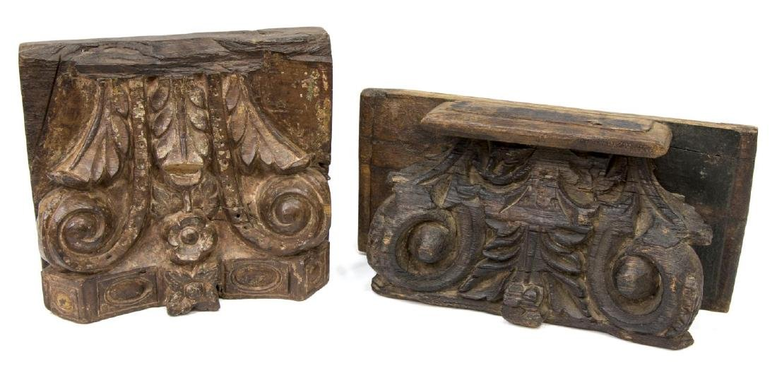 (4) ANGLO-INDIAN CARVED TEAK ARCHITECTURAL ELEMENT - 3
