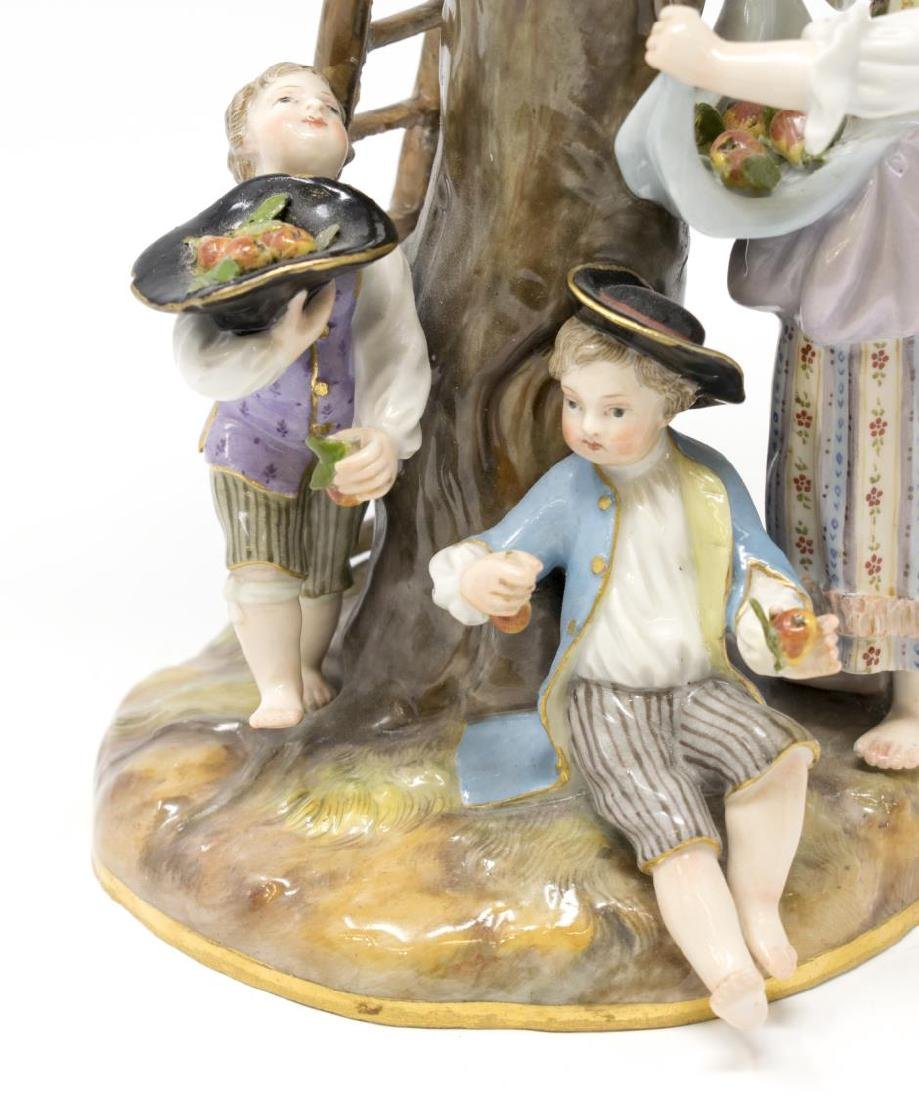 MEISSEN PORCELAIN FIGURAL GROUP, THE APPLE PICKERS - 2