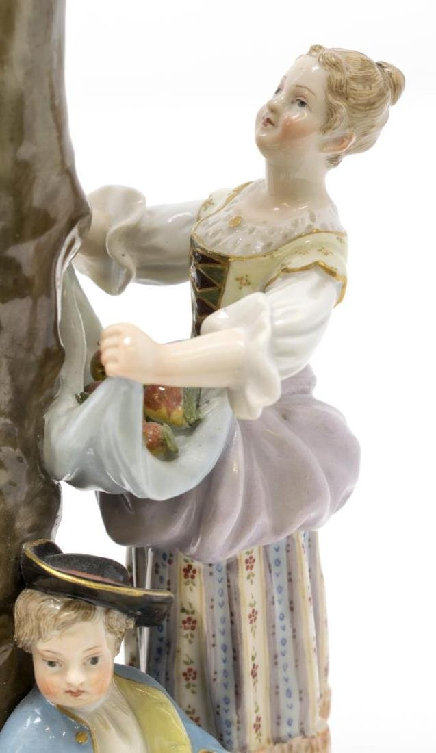 MEISSEN PORCELAIN FIGURAL GROUP, THE APPLE PICKERS - 3