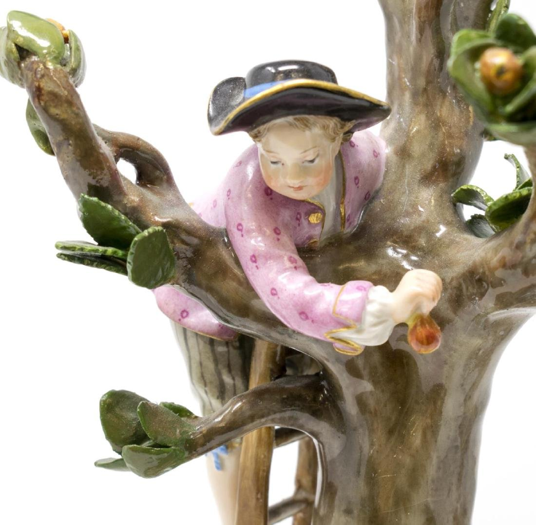 MEISSEN PORCELAIN FIGURAL GROUP, THE APPLE PICKERS - 4
