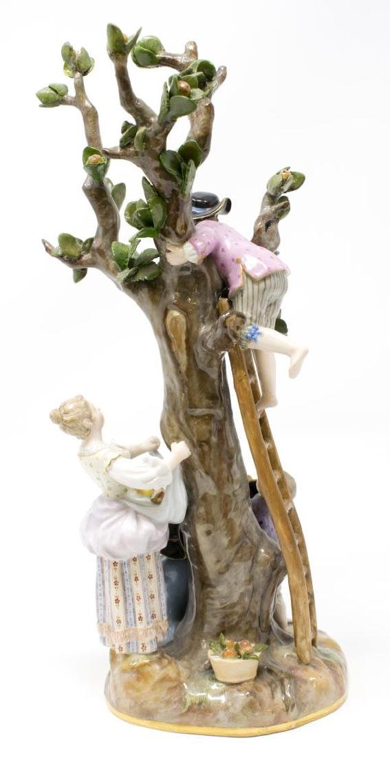 MEISSEN PORCELAIN FIGURAL GROUP, THE APPLE PICKERS - 5
