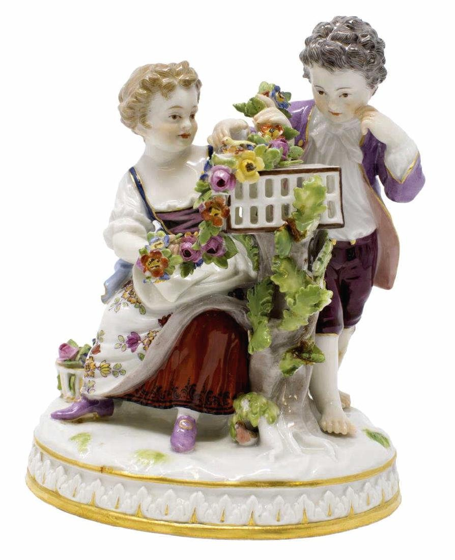 MEISSEN PORCELAIN FIGURAL GROUP ALLEGORY OF SPRING