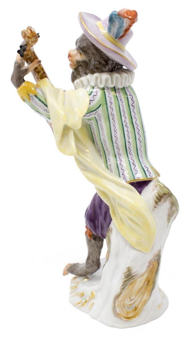 MEISSEN PORCELAIN MONKEY ORCHESTRA, GUITAR PLAYER - 3