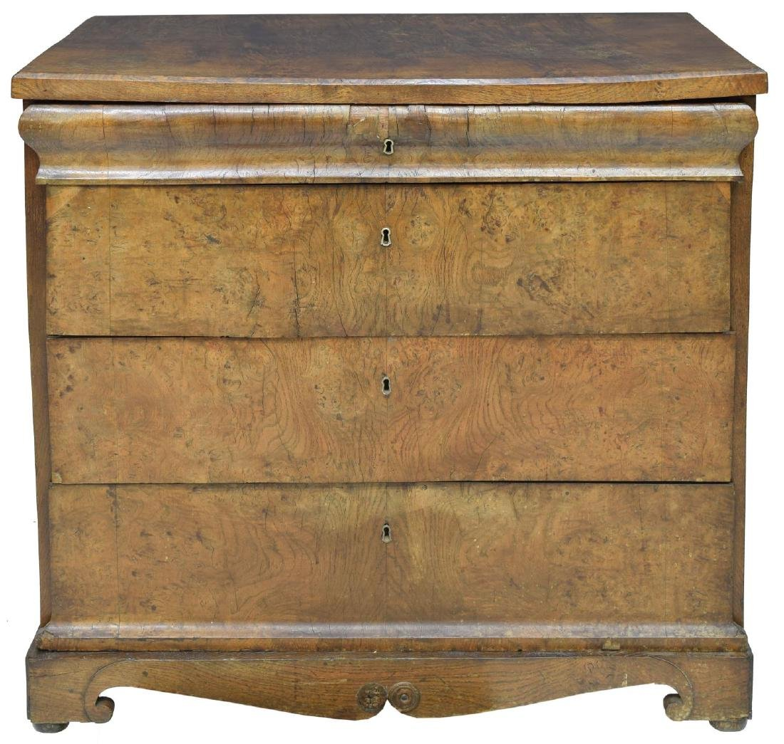 DANISH EMPIRE FITTED BURLED WORK CHEST OF DRAWERS - 4