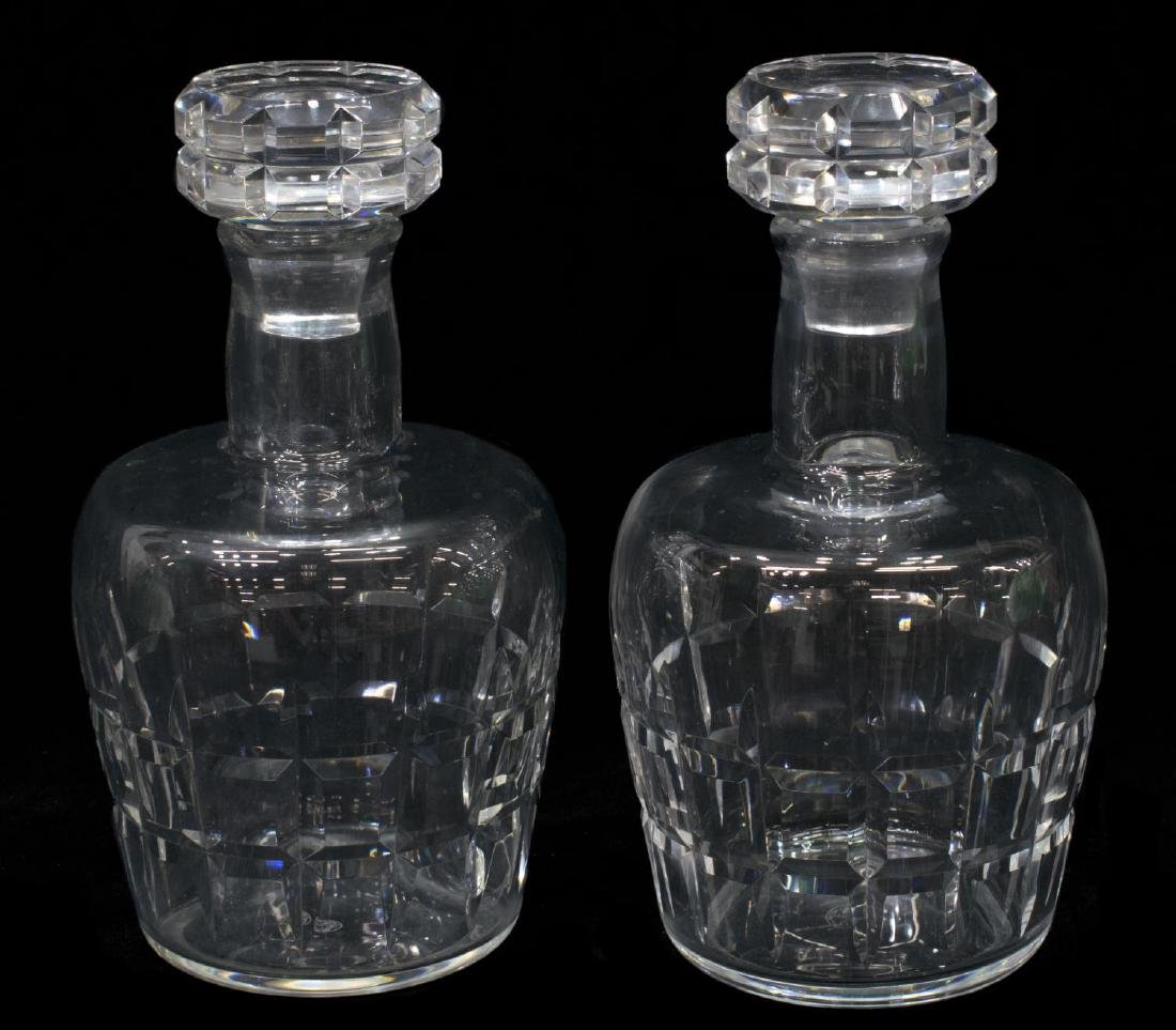 (2) BACCARAT MARIGNANNE CRYSTAL WHISKEY DECANTERS