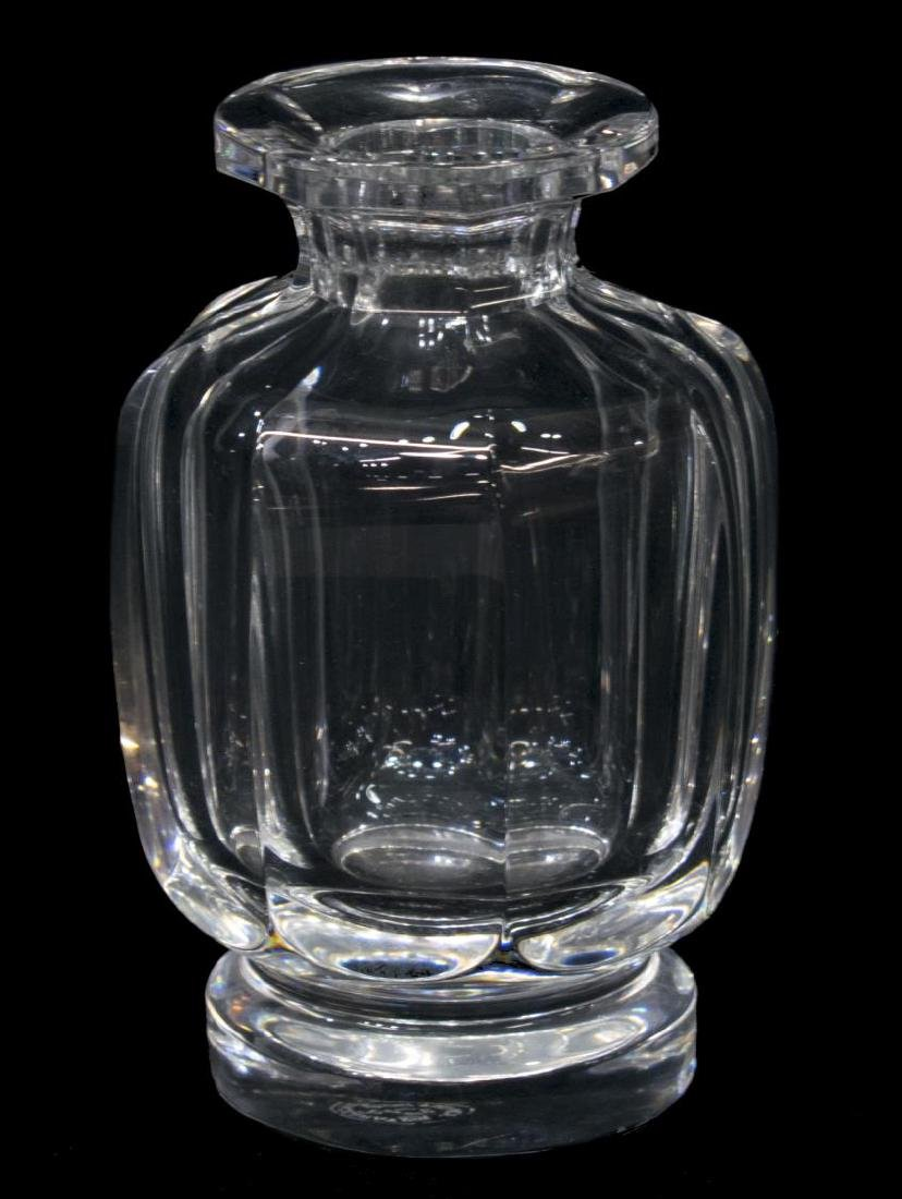 (2) BACCARAT COLORLESS CRYSTAL VASE & SMALL BOTTLE - 3