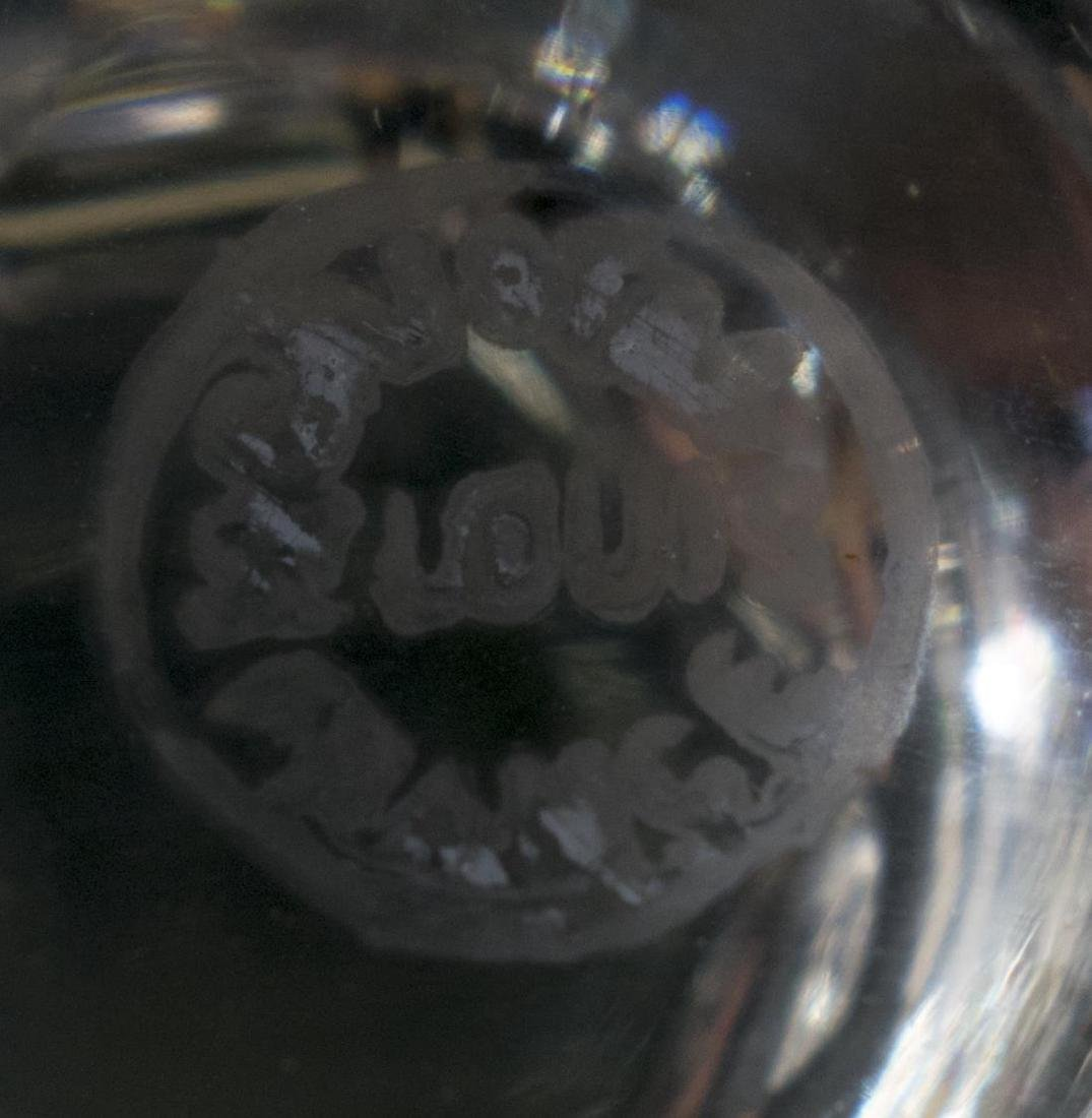 (12) ST LOUIS BRISTOL CUT CRYSTAL CHAMPAGNE COUPES - 3