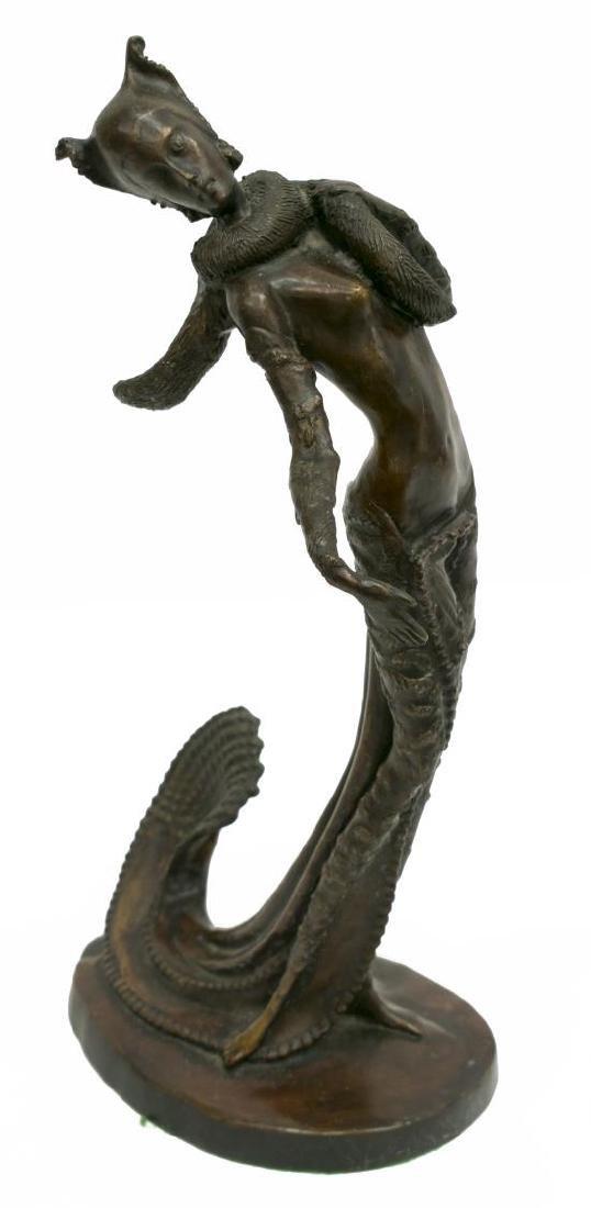 AFTER DEMETRE CHIPARUS (1886-1947) BRONZE FIGURE