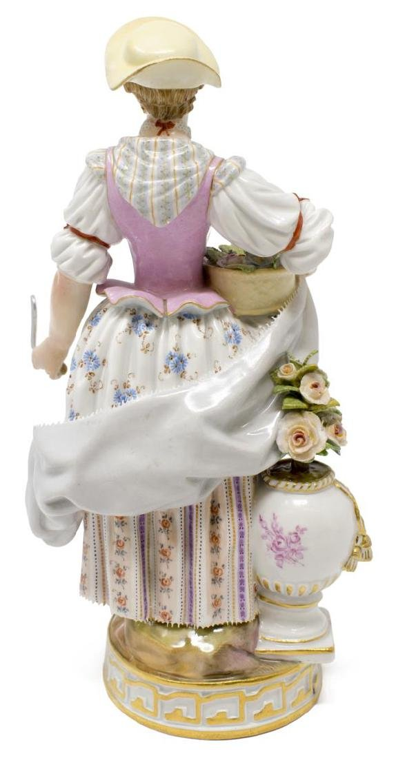 (2) MEISSEN PORCELAIN FIGURES, GIRL & BOY GARDENER - 3