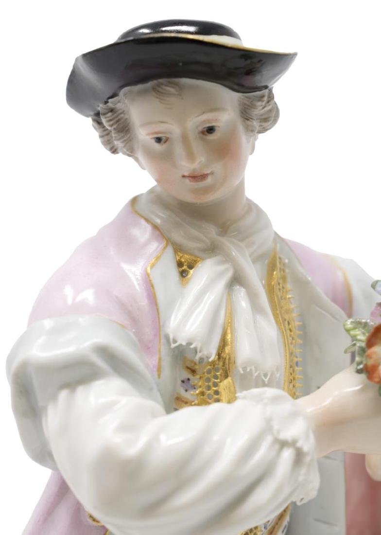 (2) MEISSEN PORCELAIN FIGURES, GIRL & BOY GARDENER - 5