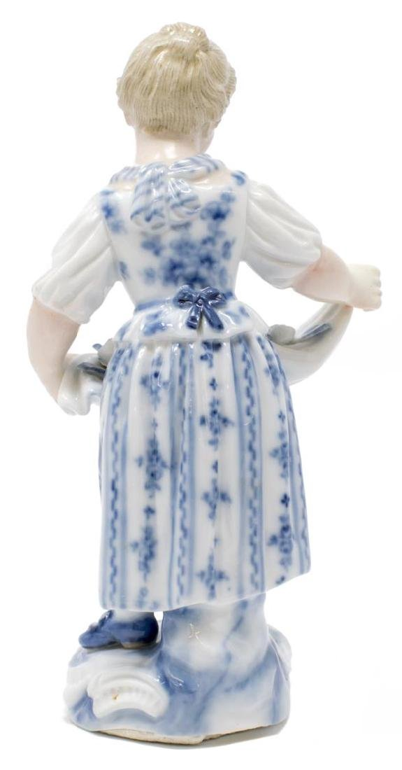 (2) PORCELAIN FEMALE FIGURES WOMAN IN SEDAN CHAIR - 5