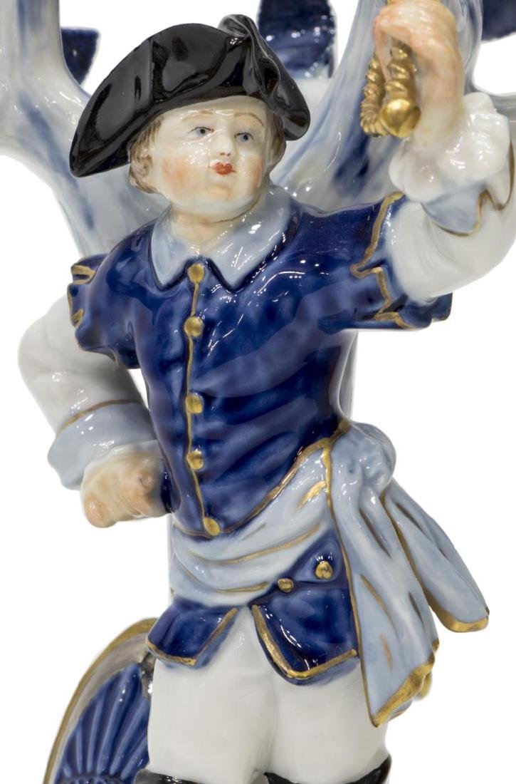 (2) MEISSEN PORCELAIN FIGURES BOY WITH SWORD - 4