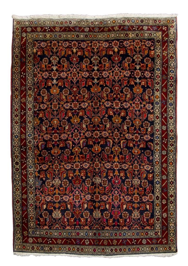 "HAND-WOVEN PERSIAN MALAYER RUG, 4'9"" x 6'11"""