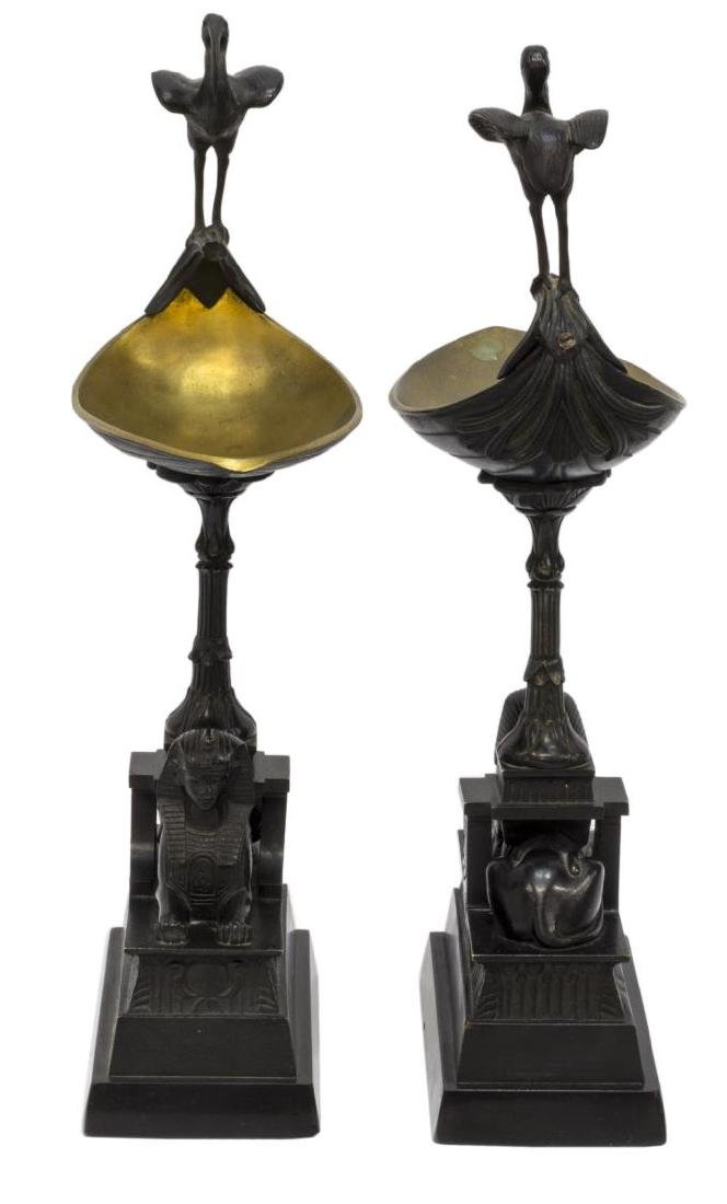 (2) FRENCH EMPIRE STYLE SPHINX IBIS CANDLE HOLDERS - 2