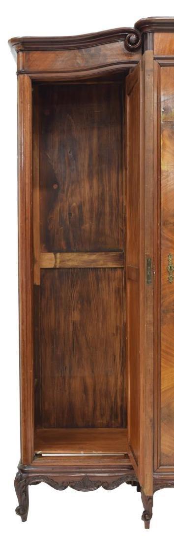 FRENCH LOUIS XV STYLE MAHOGANY THREE-DOOR ARMOIRE - 4