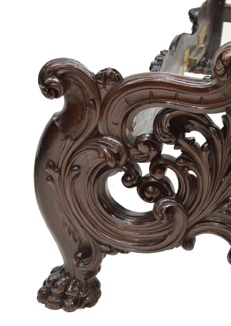 ITALIAN BAROQUE STYLE HEAVILY CARVED BED - 4