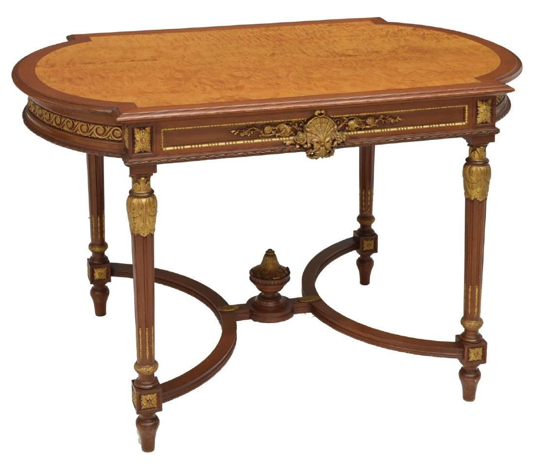 LOUIS XVI STYLE PARCEL GILT SALON TABLE