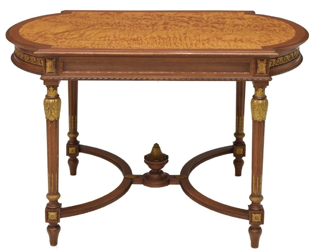 LOUIS XVI STYLE PARCEL GILT SALON TABLE - 2