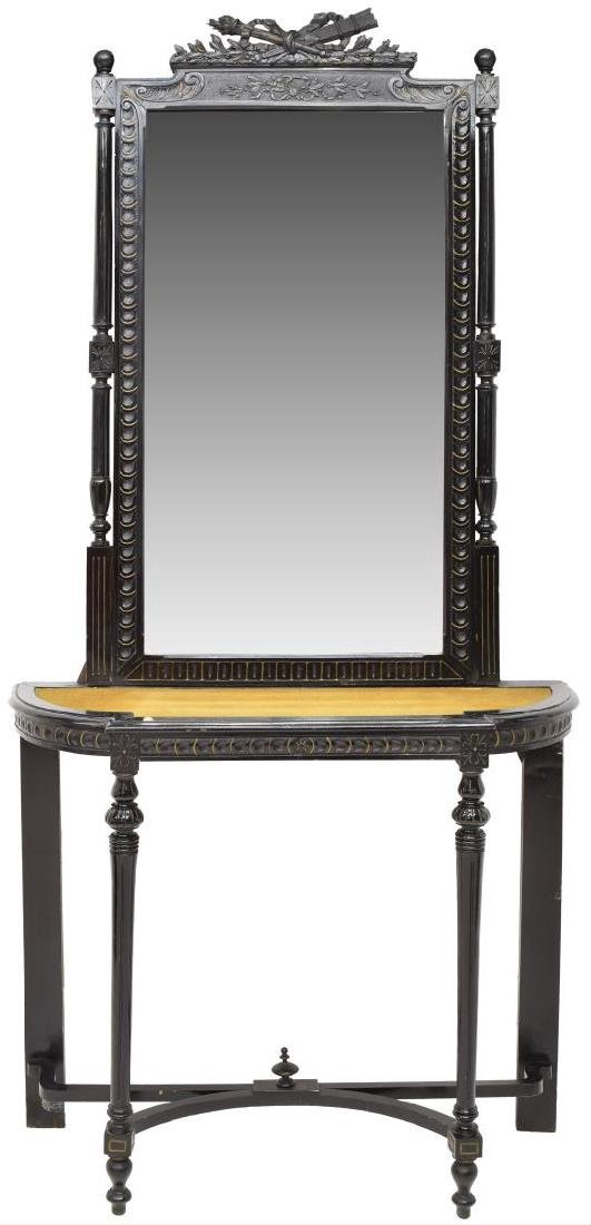 LOUIS XVI STYLE CONSOLE TABLE & MIRROR
