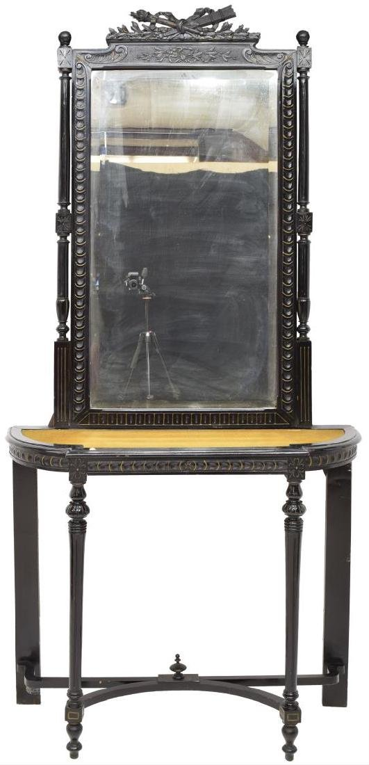 LOUIS XVI STYLE CONSOLE TABLE & MIRROR - 2