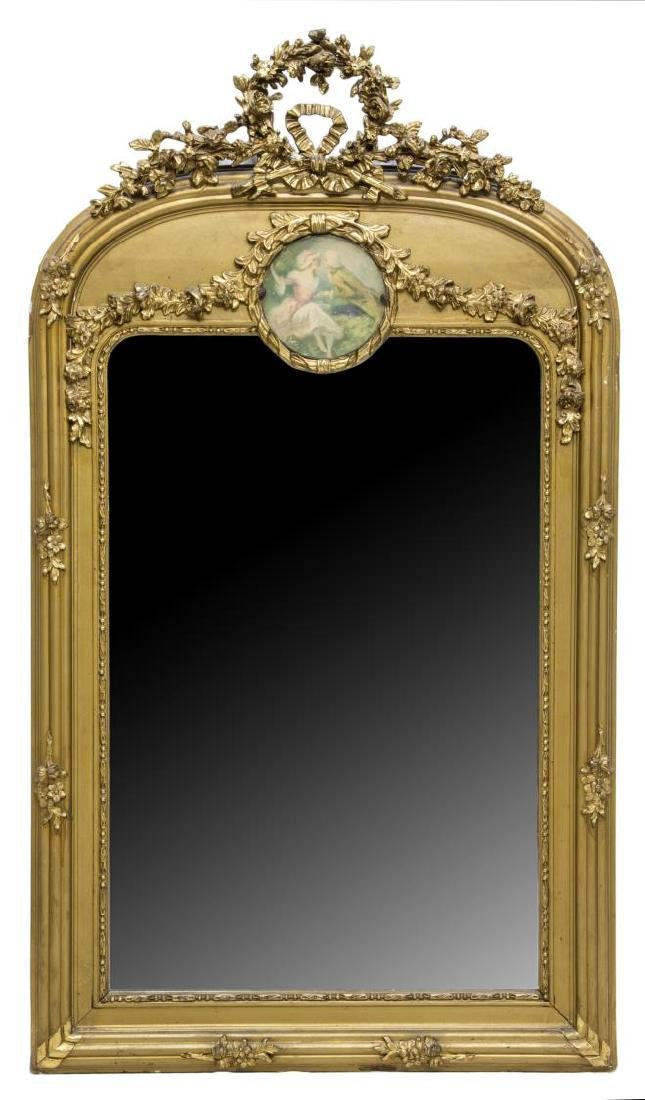 FRENCH TRUMEAU STYLE WALL MIRROR