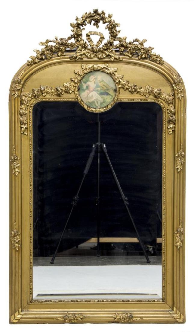 FRENCH TRUMEAU STYLE WALL MIRROR - 2
