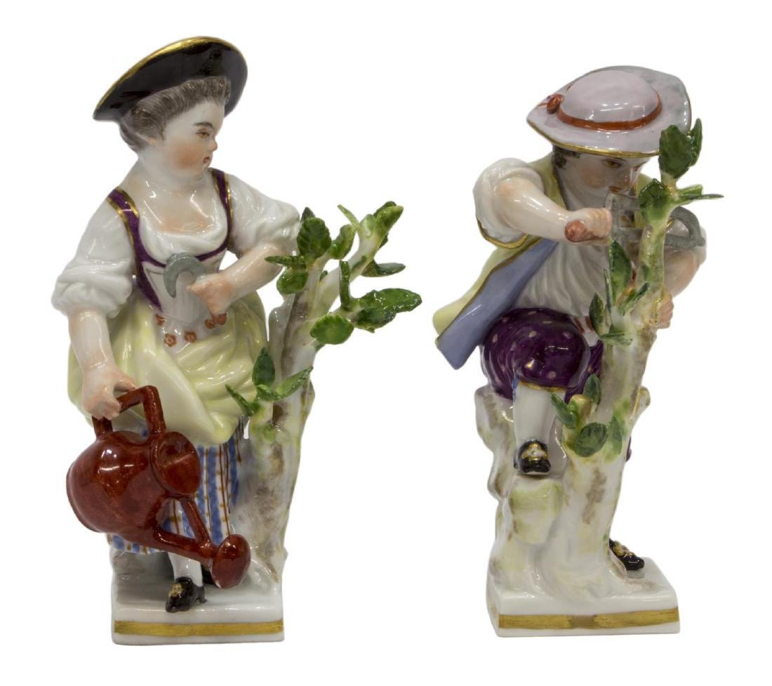 (2) MEISSEN PORCELAIN FIGURES, GARDEN CHILDREN G