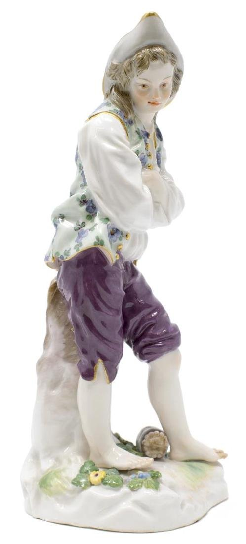 MEISSEN PORCELAIN FIGURE, BOY W/ ARMS CROSSED, D79