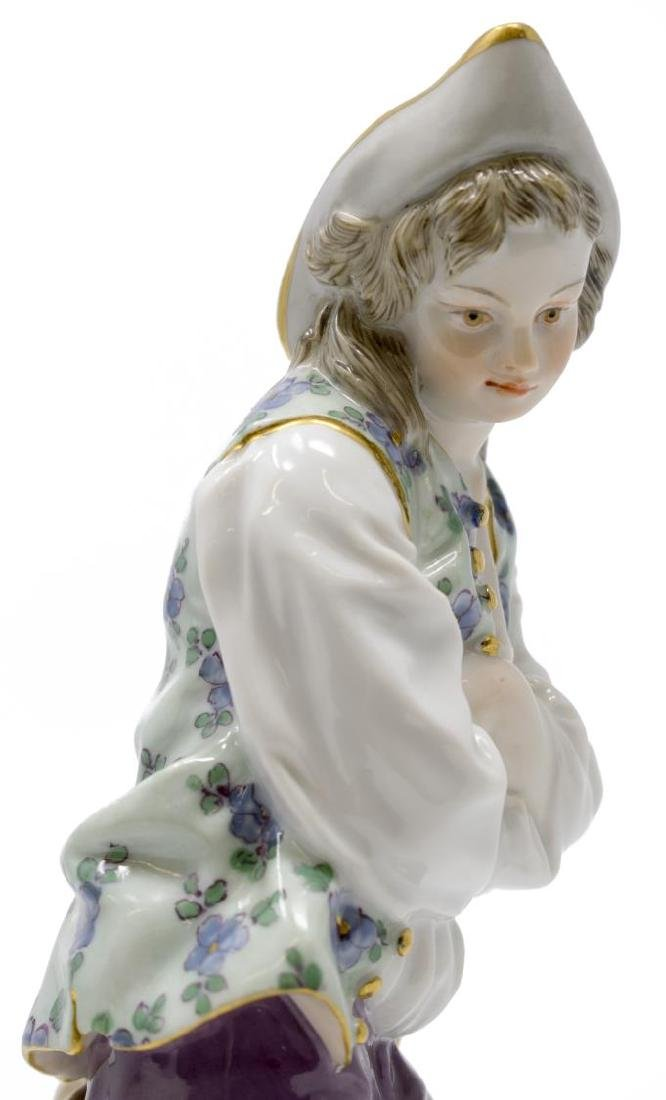 MEISSEN PORCELAIN FIGURE, BOY W/ ARMS CROSSED, D79 - 2