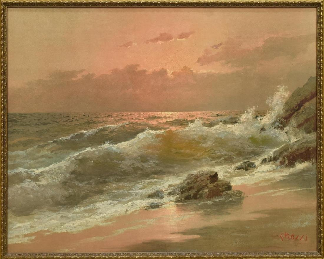 CARLO GROSSI (1857-1931), OCEAN AT SUNSET