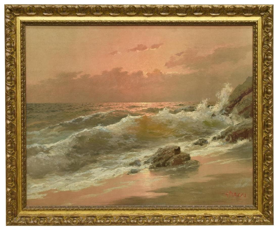 CARLO GROSSI (1857-1931), OCEAN AT SUNSET - 2