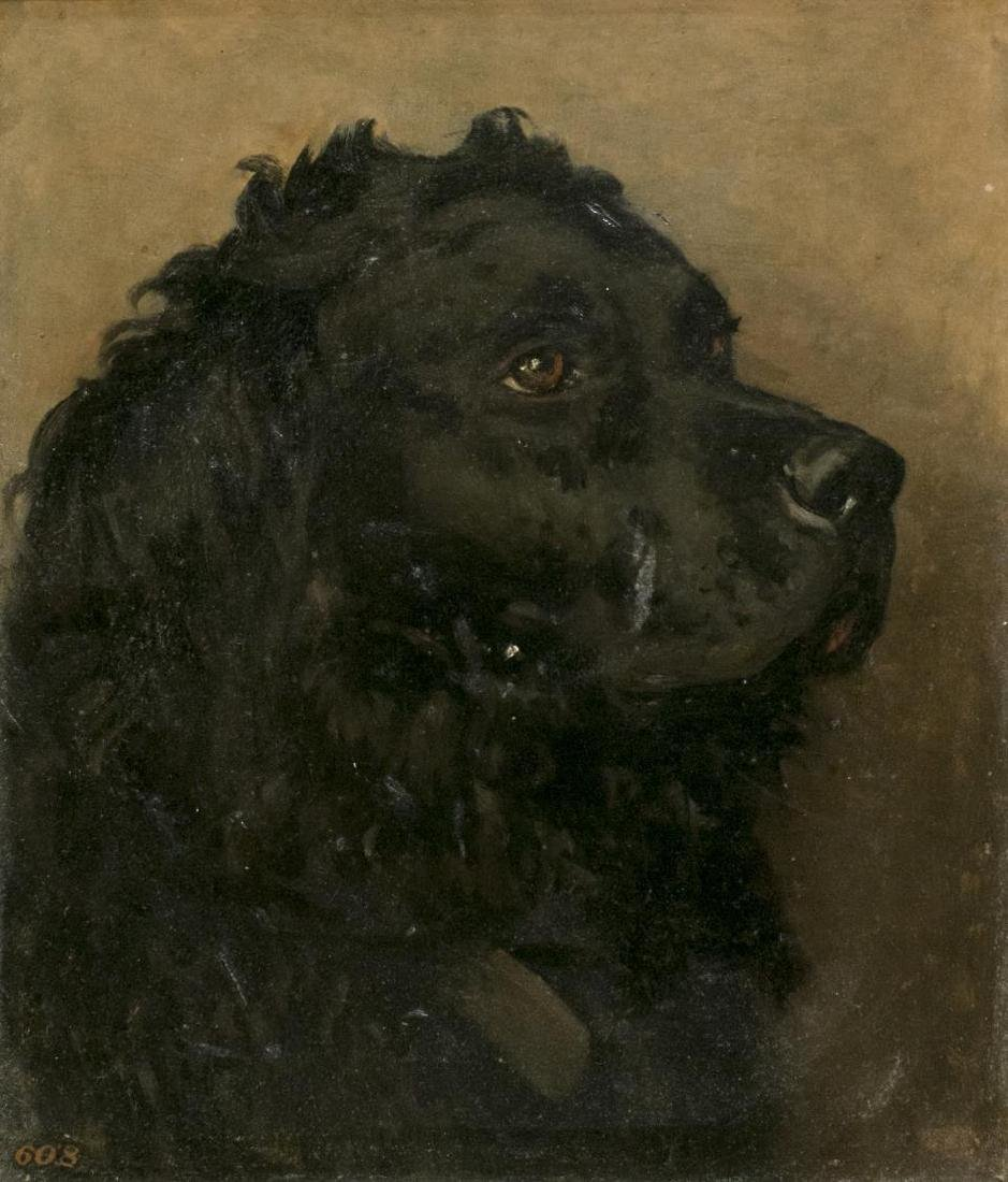 CHARLES LUTYENS (1829-1915) PAINTING OF A DOG