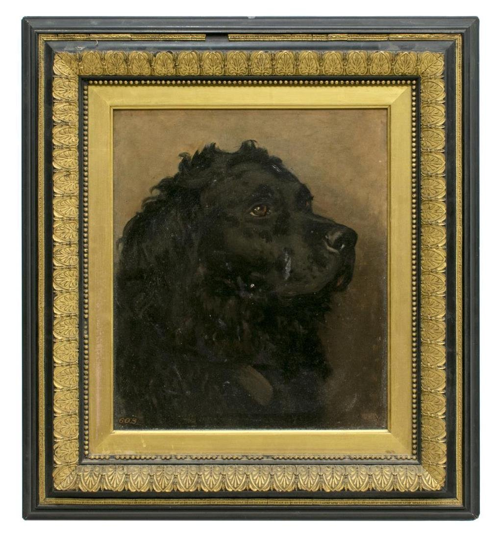 CHARLES LUTYENS (1829-1915) PAINTING OF A DOG - 2