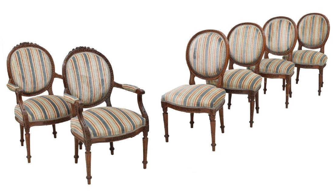 (6) LOUIS XVI STYLE DINING CHAIRS