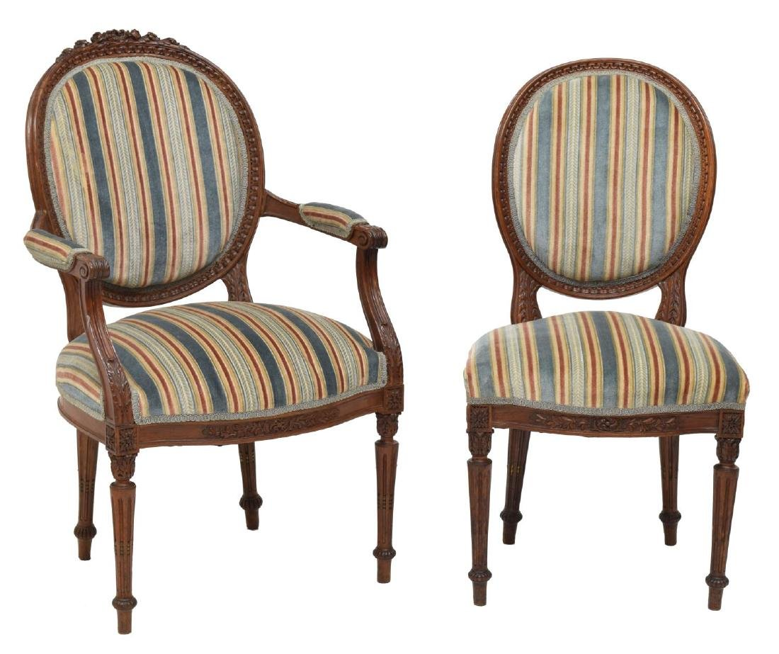 (6) LOUIS XVI STYLE DINING CHAIRS - 2