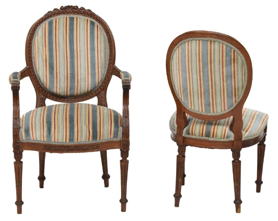 (6) LOUIS XVI STYLE DINING CHAIRS - 3