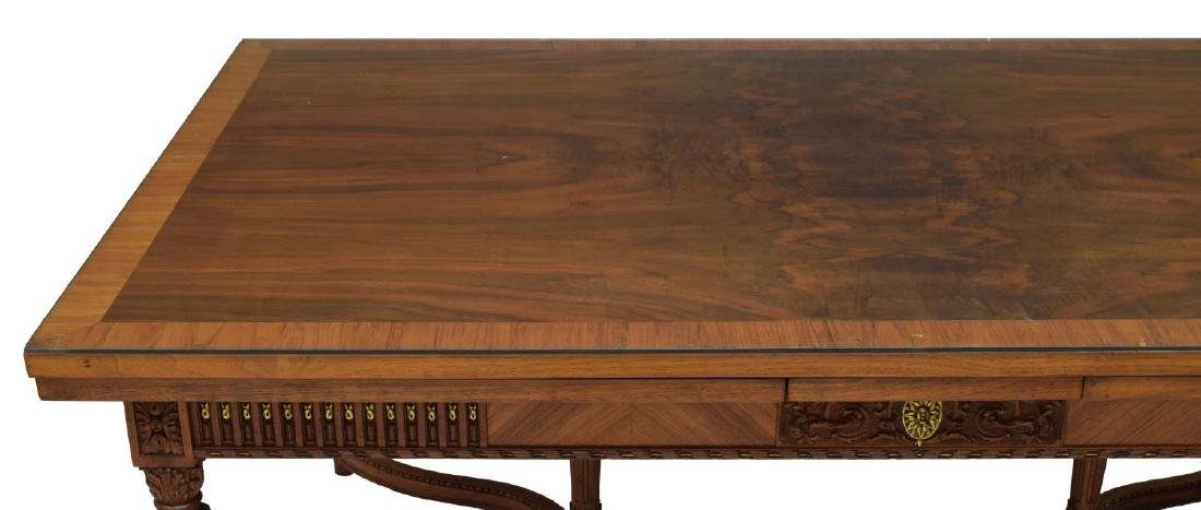 LOUIS XVI STYLE DRAW LEAF DINING TABLE - 4
