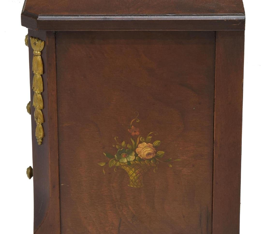 (2) FRENCH FLORAL ACCENTED SIDE TABLES - 4