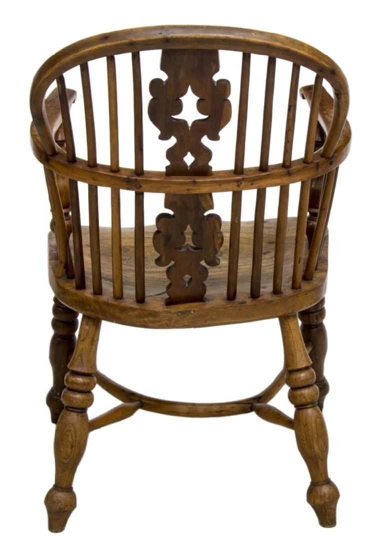 ENGLISH YEW & ELM WOOD WINDSOR ARM CHAIR, 19TH C. - 3