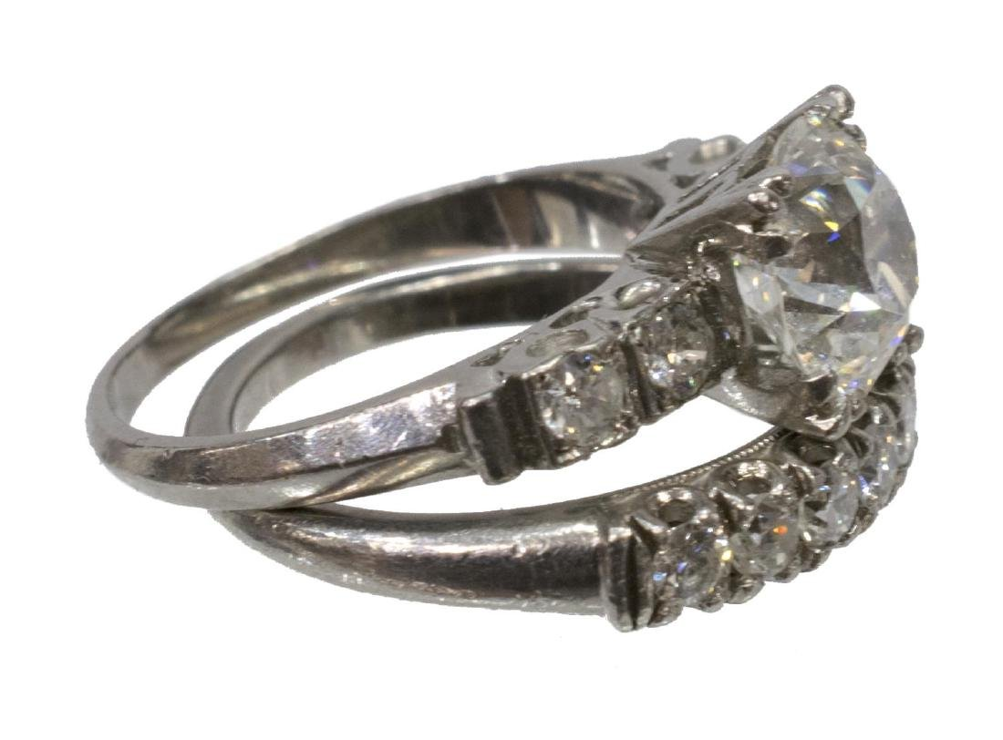 LADIES ESTATE DIAMOND & PALLADIUM WEDDING SET - 4