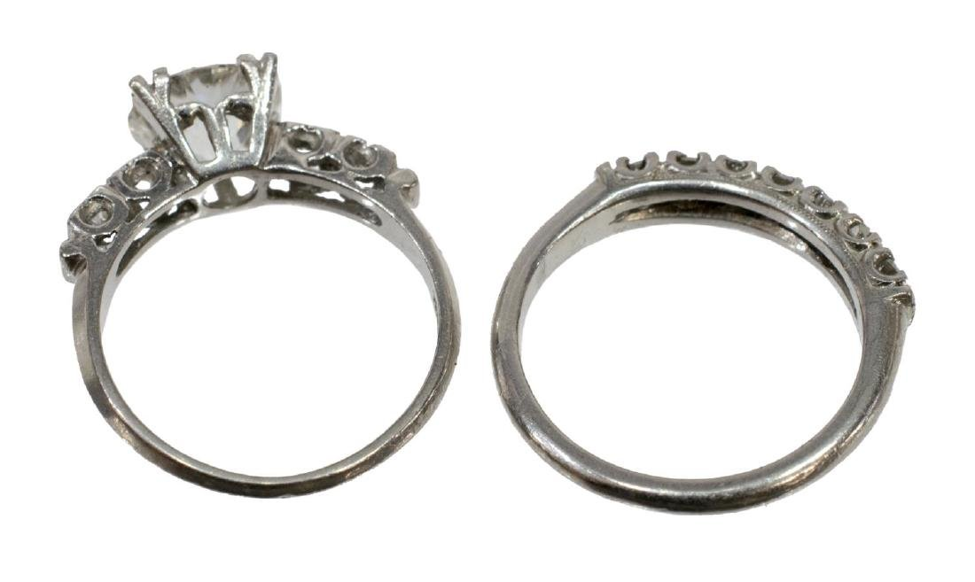 LADIES ESTATE DIAMOND & PALLADIUM WEDDING SET - 5