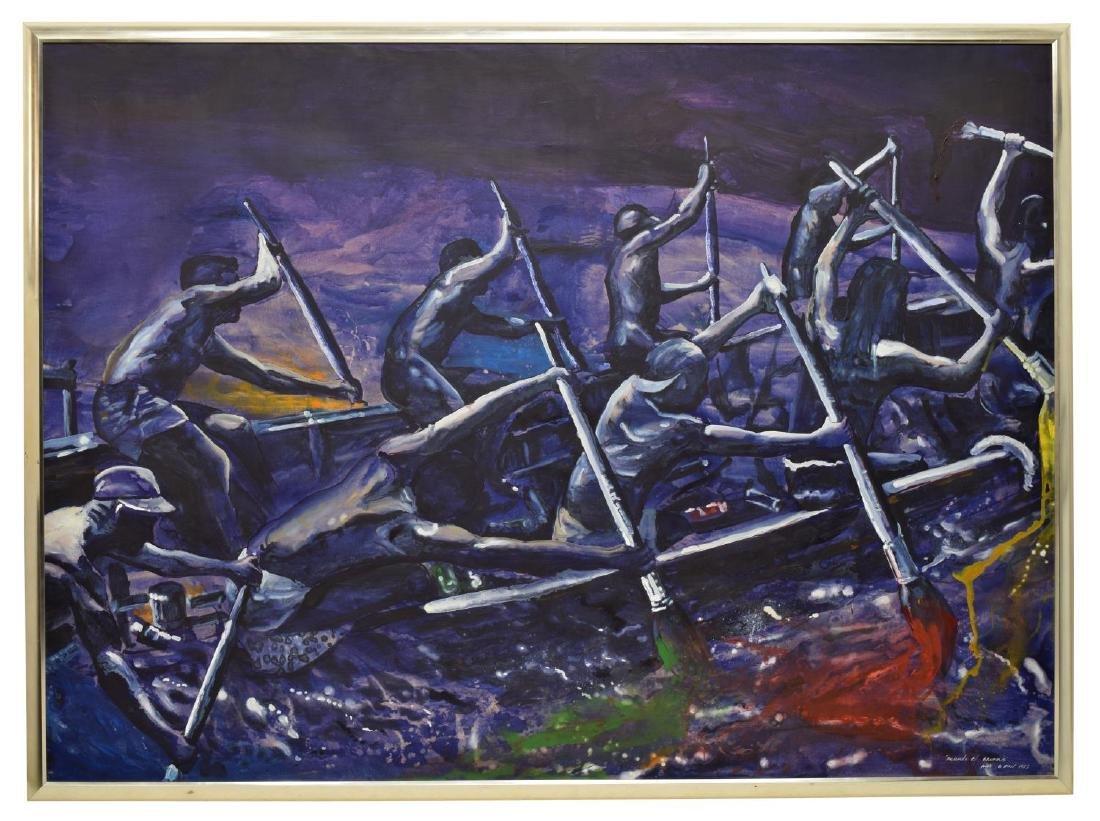KADIR LOPEZ(CUBA, B. 1972)MAKING RAINBOWS PAINTING