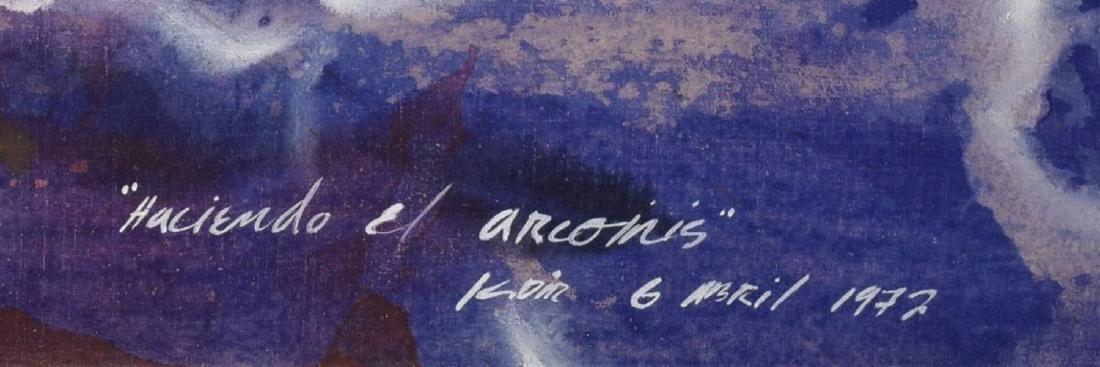 KADIR LOPEZ(CUBA, B. 1972)MAKING RAINBOWS PAINTING - 3