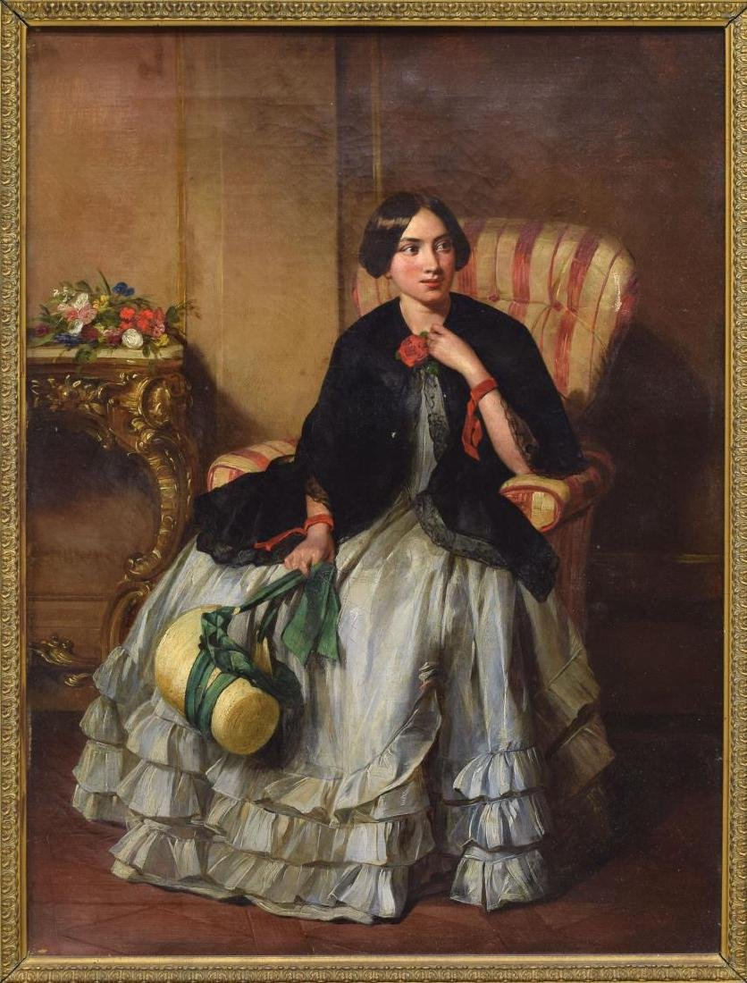 19TH C., PORTRAIT OF A VICTORIAN LADY