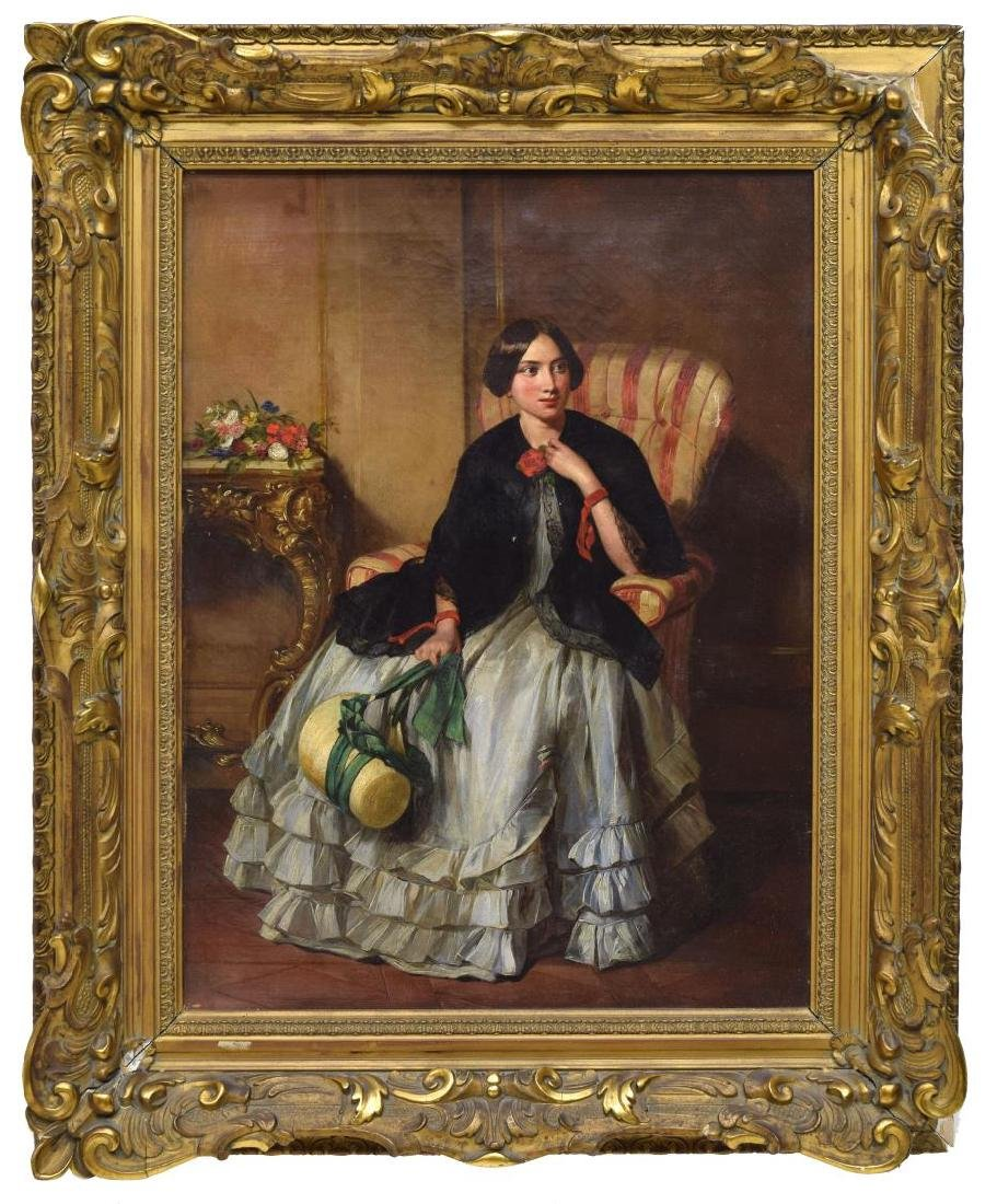 19TH C., PORTRAIT OF A VICTORIAN LADY - 2